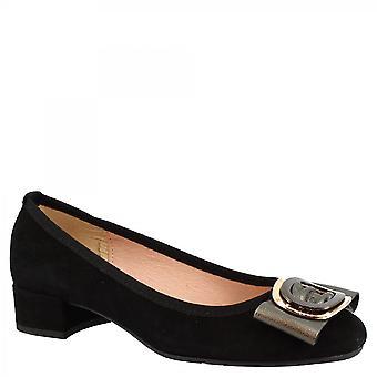 Leonardo Kengät Naiset&s käsintehty matala korkokengät pumput kengät musta mokkanahka solki