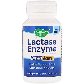 Nature's Way, Lactase Enzyme Formula, 100 Kapseln