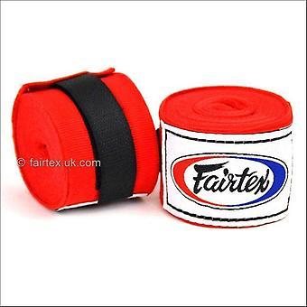 Fairtex 4.5m stretch hand wraps - red