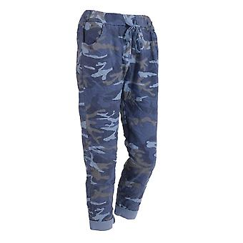 Womens Camouflage Magic Pants Stretchy Trousers