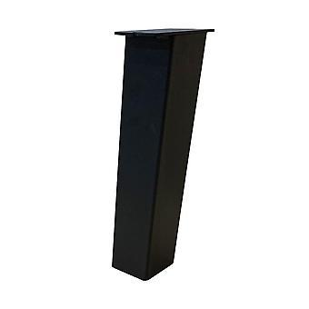 Set 4 siyah eğik masa ayakları 40 cm (kol 8 x 8 cm) (1 adet)