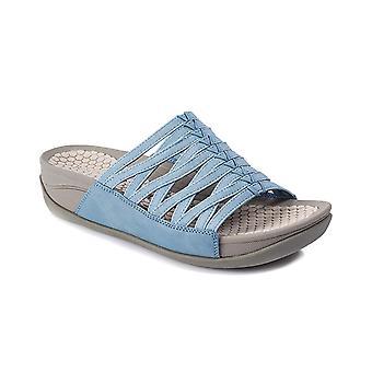 Bare Traps Womens Dabnie Fabric Open Toe Casual Slide Sandals
