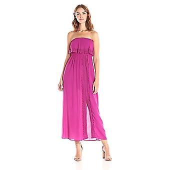 Taylor ve Adaçayı Kadın 's Dantel Trim ile Omuz Maxi Elbise Kapalı, Gezgin Menekşe Küçük