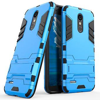 Shell für LG K8 (2018) Space Armor Blue Hard Plastic Protection Case
