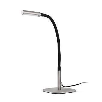 Faro Serp - LED Desk Lamp Black, Matt Nickel