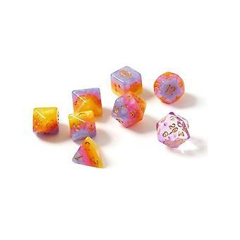 Tahitian Sunset Polyhedral Dice Set - Sirius Dice