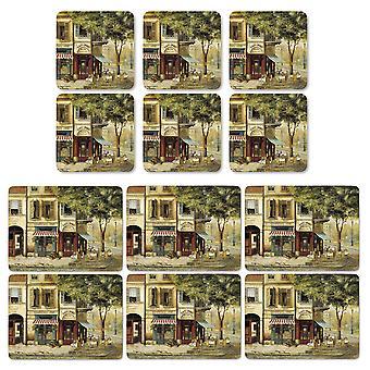 Pimpernel Pariisi kohtauksia Placemats ja Coasters Set of 6