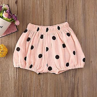 New Baby Girl Boy Cotton Linen Bloomer Shorts Cartoon Print Pants Bottoms Underwear