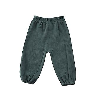 Baby Kids, Bottoms Wrinkled Pantalettes Pants, Loose Long Pant Clothing