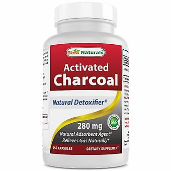 Best Naturals Activated Charcoal, 280 mg, 250 Caps