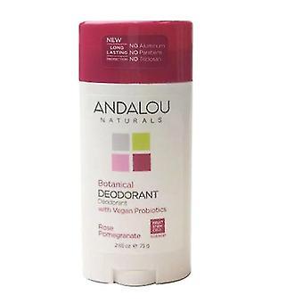 Andalou Naturals Rose Romã Desodorante, 2.65 Oz