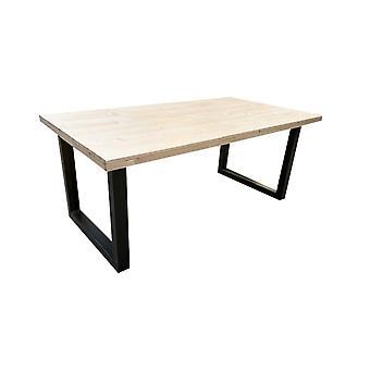 Wood4you - Eettafel Eikenhout stalen poot 200Lx78Hx96D cm