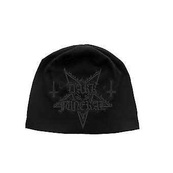 Dark Funeral Beanie Hat cap Pentagram band Logo new Official Black jersey