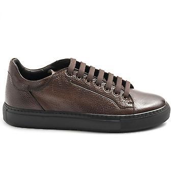 Brecos Mænds Lace-Up Casual Sko i brunt læder