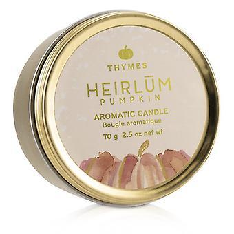 Thymes Aromatic Candle (Travel Tin) - Heirlum Pumpkin 70g/2.5oz