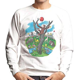 Curious George In A Tree At The Zoo Men's Sweatshirt