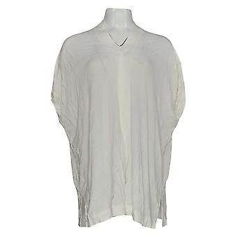 Martha Stewart Women's Sweater Open Front Short-Sleeve White A354314