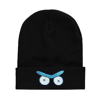 Rick og Morty Beanie Hat Eyes Logo ny offisiell svart Unisex