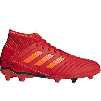 adidas Performance Kids Predator 19.3 Firm Ground Training Football Boots - Red