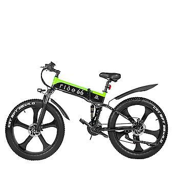 26インチマウンテンバイク1000w折りたたみ電動自転車、ユーティリティバイクビーチバイク