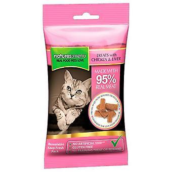 Natures Menu Cat Treats Chicken & Liver 60 Gr (Cats , Treats , Chewy & Softer Treats )