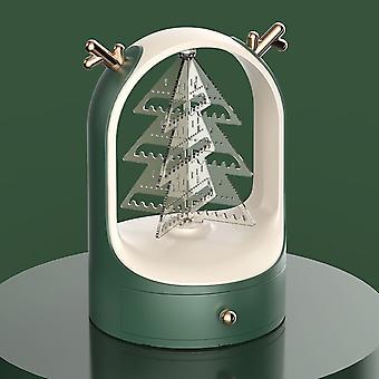 イヤリング/ネックレスのためのジュエリーオーガナイザー360回転エルククリスマスツリージュエリー収納ボックス