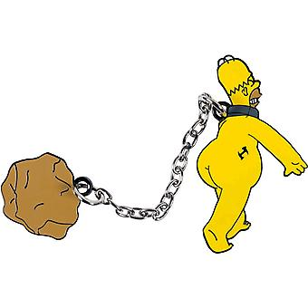 The Simpsons Homer with Stone of Shame Enamel Pin