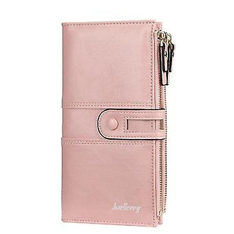 Women Fashion Long Leather Wallet, Top Quality Card Holder Female Zipper Brand