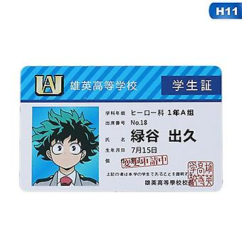 Anime Peripheral My Hero Academia Pvc Student Id Card School Food Card