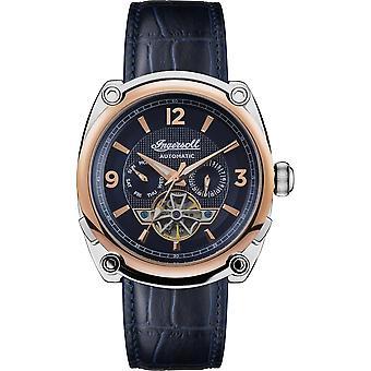 Ingersoll I01101B La montre-bracelet à cadran bleu automatique du Michigan