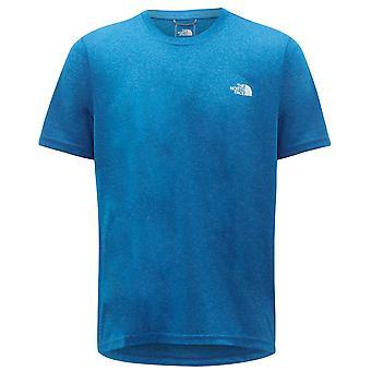 North Face Reaxion Amp Crew Tee Mens Logo T-Shirt Blå NF0A3RX3W1H1
