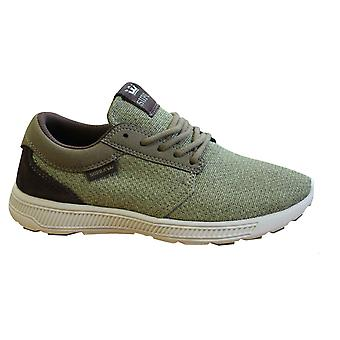 Supra Hammer Run Green Textile Lace Up Mens Running Trainers 08128 357