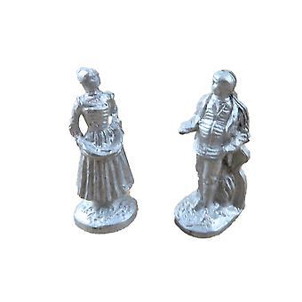 Dolls House pari hahmoja koristeet 1:24 Asteikko puoli tuumaa metalli lisävaruste