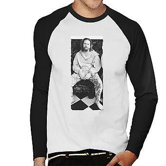 Iso Lebowski The Dude Sitting Men's Baseball Pitkähihainen T-paita