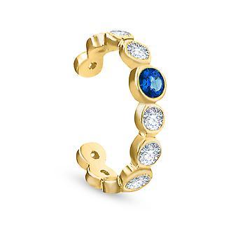 Cercel Cuff Antheia, 18K Aur, Diamante & Piatra Pretioasa- Ruby | | de safir Emerald