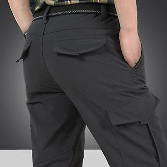 Men Tactical Military Pants, Winter Thicken Fleece Warm Cotton Bomber Working