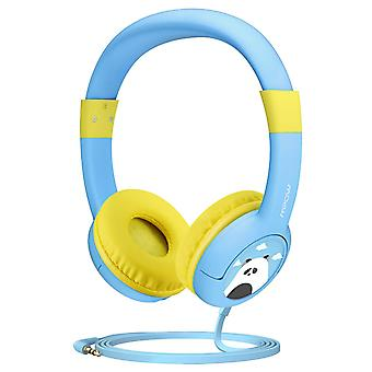 Kids headphones, mpow ch1 wired headphones children on ear 85 db volume limited hearing protection,
