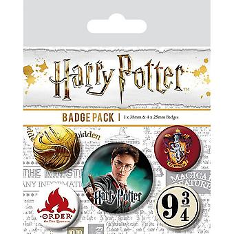 Harry Potter Gryffondor Badge Set (Pack de 5)