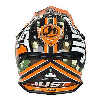 Just 1 J12 Carbon MX Helmet Kombat Orange