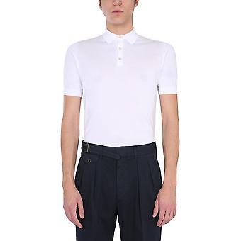 Lardini Ellpmc52100 Men's White Cotton Polo Shirt