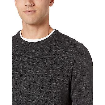 Essentials Men's Crewneck Pullover Pullover, -Charcoal Space-Dye, klein