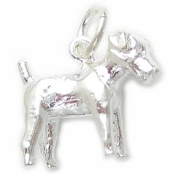 Jack Russell Terrier Cane Sterling Silver Charm .925 X 1 Dogs Terriers --sfp - 8544