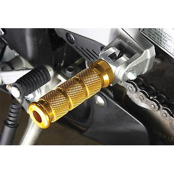 BikeTek Alloy Round Sports Footpegs Yamaha R1 Rider Gold