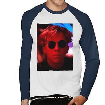 Weird Science Gary Wallace bär glasögon Män's Baseball Långärmad T-shirt