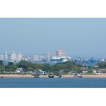 Africa Mozambique Maputo port area boats Poster Print by Cindy Miller Hopkins