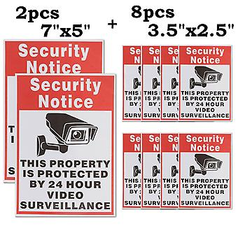 10pcs Waterproof Sunscreen Pvc Home Cctv Video Surveillance Security Camera
