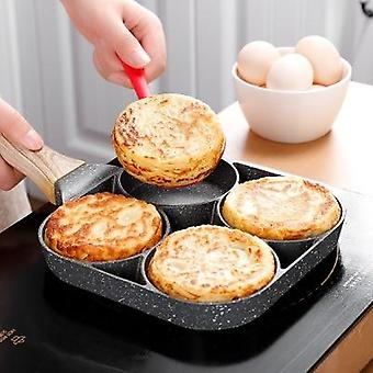 Four-hole Thickened Omelet Non-stick Frying Pot Pan