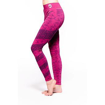 Ashtanga Organic Yoga Leggingsit, Pinkki/Violetti