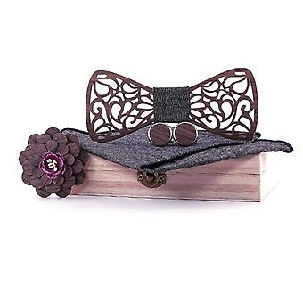 Træ Butterfly, Gentleman Groom Træ Slips Butterfly