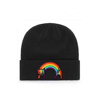 Extreme Largeness Rainbow Cat Patch Beanie